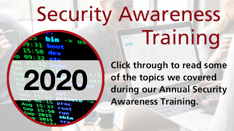 Annual Security Awareness Training