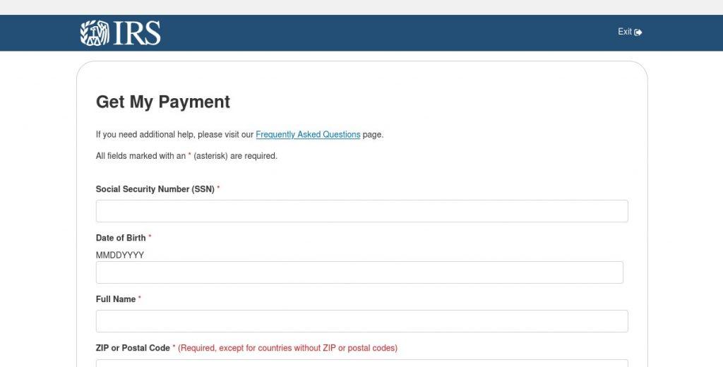 Fake IRS Page